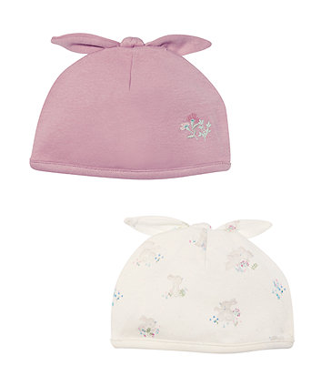 Mothercare Bunny And Flower Hats - 2 Pack