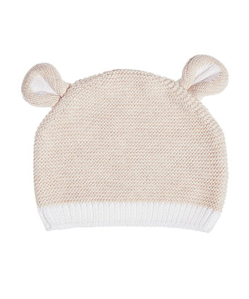 My First Oatmeal Knitted Hat