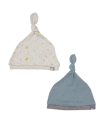 Mothercare Space Stripe Hats - 2 Pack