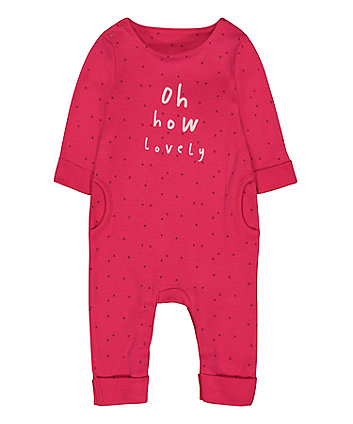 Mothercare Pink Heart Lovely All In One