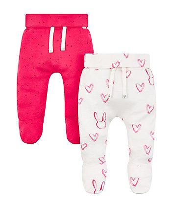 Mothercare Pink Heart Leggings - 2 Pack