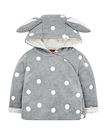 Mothercare Grey And White Spot Jacket