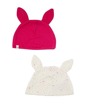 Mothercare Buny Ear Hats - 2 Pack