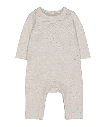 Mothercare Grey Knitted All In One