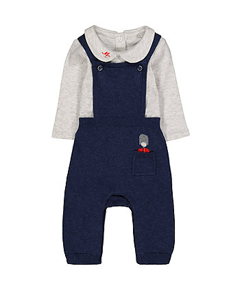 Mothercare Knitted Dungarees And Bodysuit Set