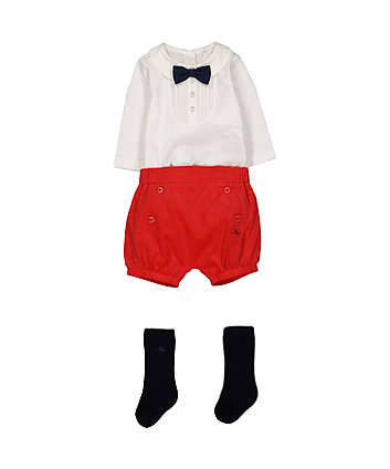 Mothercare Heritage Red Cord Shorts Set