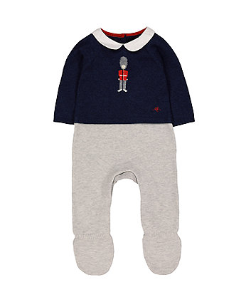 Mothercare Heritage Soldier Knitted Mock All In One