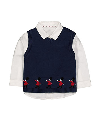 Mothercare Shirt And Vest Set