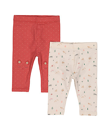 Mothercare Spot Forest Leggings - 2 Pack