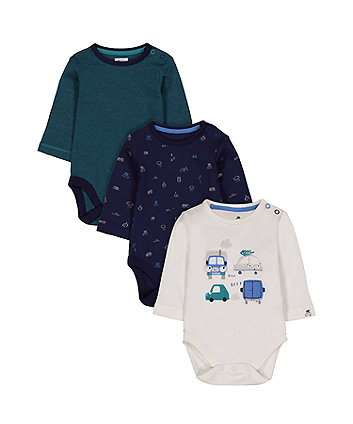 Mothercare Forest Road Trip Bodysuits - 3 Pack
