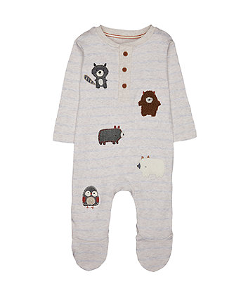 Mothercare Striped All In One