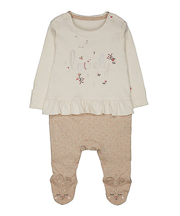 Mothercare Mock Top And Bottom All In One