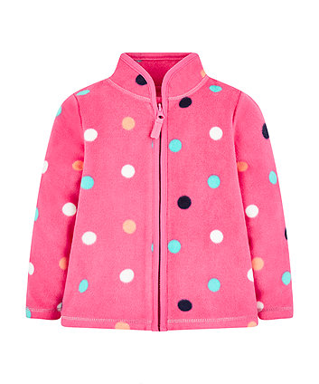 Mothercare Pink Spot Fleece