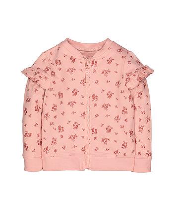 Pink Floral Bomber Jacket