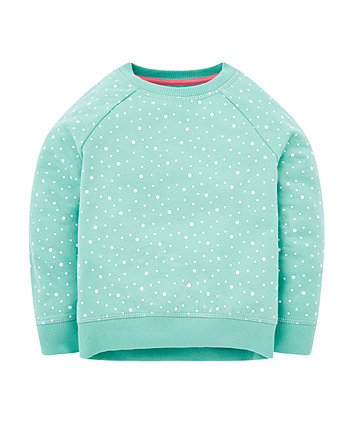 Mothercare Green Spot Sweat Top