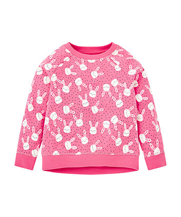Pink Bunny Sweat Top