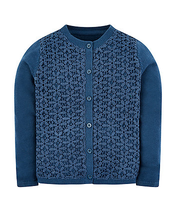 Mothercare Navy Woven Cardigan
