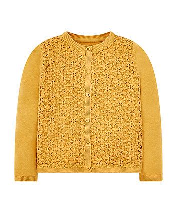 Mothercare Mustard Woven Cardigan