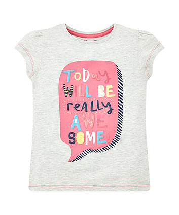 Mothercare Grey Really Awesome T-Shirt