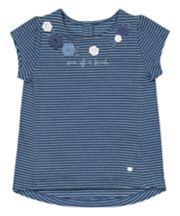 Mothercare Blue One Of A Kind Stripe T-Shirt