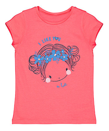 Mothercare Coral Girl T-Shirt