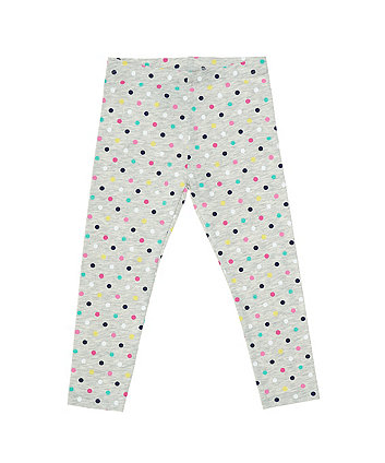 Mothercare Grey Multicoloured Spot Leggings