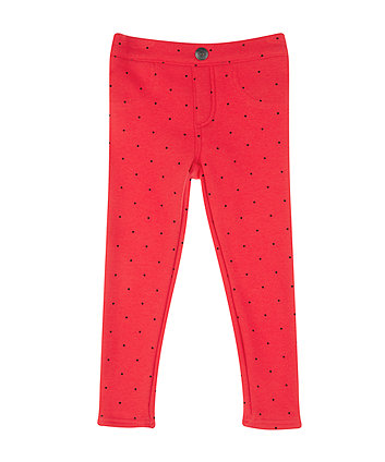 Red Spot Jeggings