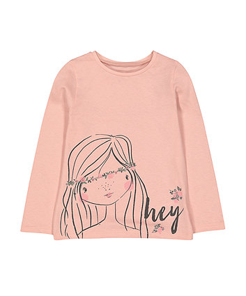 Dusky Pink Girl T-Shirt