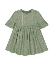 Khaki Floral Dress