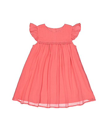 Coral Chiffon Dress