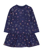 Mothercare Navy Floral Sweat Dress