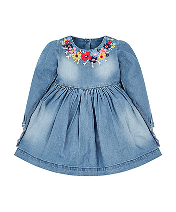 Mothercare Floral Denim Dress