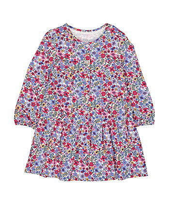 Mothercare Floral Drop-Waist Dress
