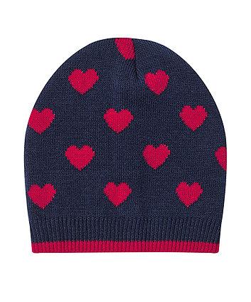Navy Heart Magic Beanie Hat