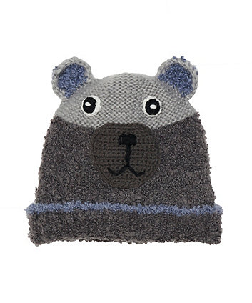 Mothercare Grey Bear Beanie