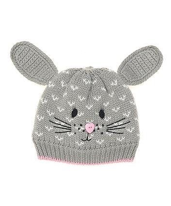 Mothercare Grey Bunny Beanie