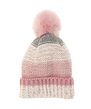 Rose Gold Knitted Beanie Hat