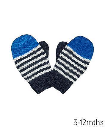 Blue Stripe Converter Gloves