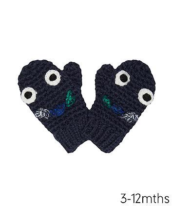 Mothercare Navy Dinosaursaur Converter Gloves