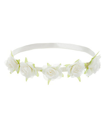 Mothercare Cream Flower Corsage Hairband