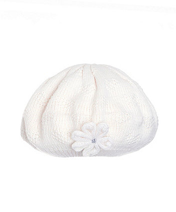Mothercare Cream Pointelle Beret