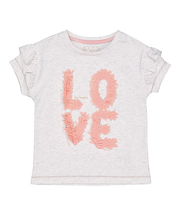 Mothercare Sparkle Love T-Shirt