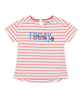 Mothercare Red Stripe Today T-Shirt