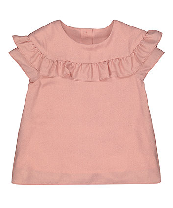 Mothercare Pink Frill Blouse