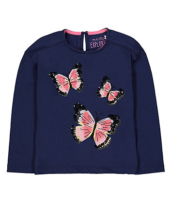 Mothercare Navy Butterfly T-Shirt