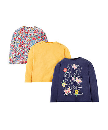 Mothercare Floral Adventure T-Shirts - 3 Pack