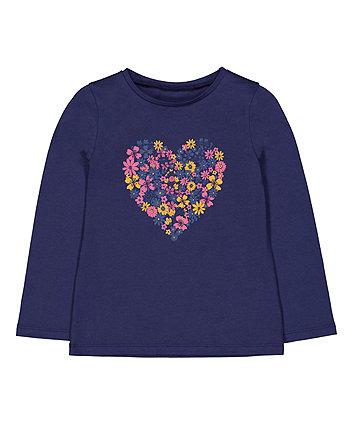 Mothercare Navy Heart T-Shirt