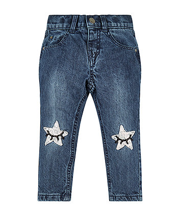 Mothercare Sequin Star Boyfriend Jeans