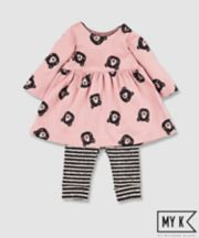Mothercare My K Pink Bear Dress And Leggings Set