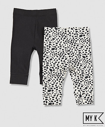 Mothercare My K Leopard Print Leggings - 2 Pack